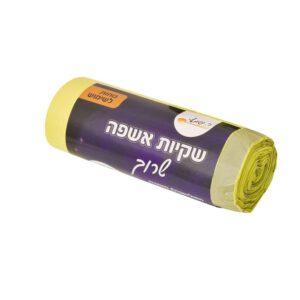 אשפה שרוך 80/90 צהוב 25 יח'  ר.שמאי