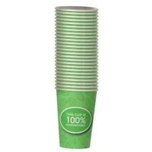 כוסות נייר 8B מתכלות 25 יח' קנה סוכר