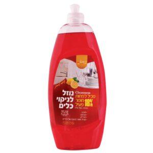 """נוזל כלים אדום 750 מ""""ל ניחוח פרחים 18%ר.שמאי"""