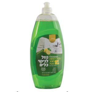 """נוזל כלים ירוק 750 מ""""ל ניחוח תפוח 18%ר.שמאי"""