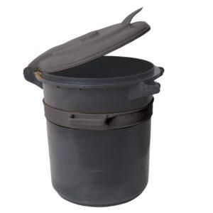 פח דגם 60 שחור עם מכסה