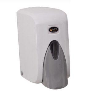 """מתקן סבון נוזלי לבן דיספנסר 500 מ""""ל S5ר.שמאי"""