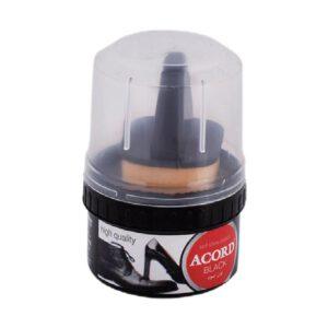 משחת נעליים מוצק+ספוג שחור ACORD