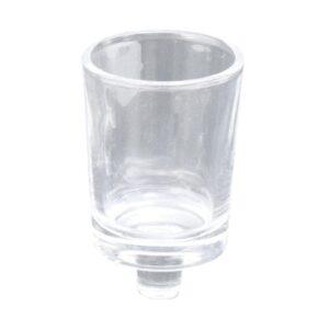 כוסיות זכוכית לנר עם רגל  ר.שמאי