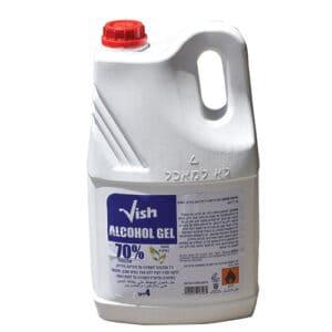ג'ל אלכוהול מוסדי 4 ליטר לחיטוי ידיים 70%  vish